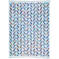 Multicolor Flat Weave Kilim Cotton and Sari Silk Hand Woven Rug - Multi