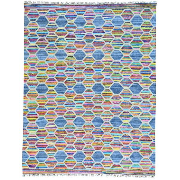 Shop Multicolor Colorful Flatweave Kilim Cotton And Sari