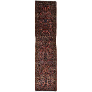 Pink Antique Persian Sarouk Runner Soft Full Pile E x c Cond Rug (2'8 x 11'2)