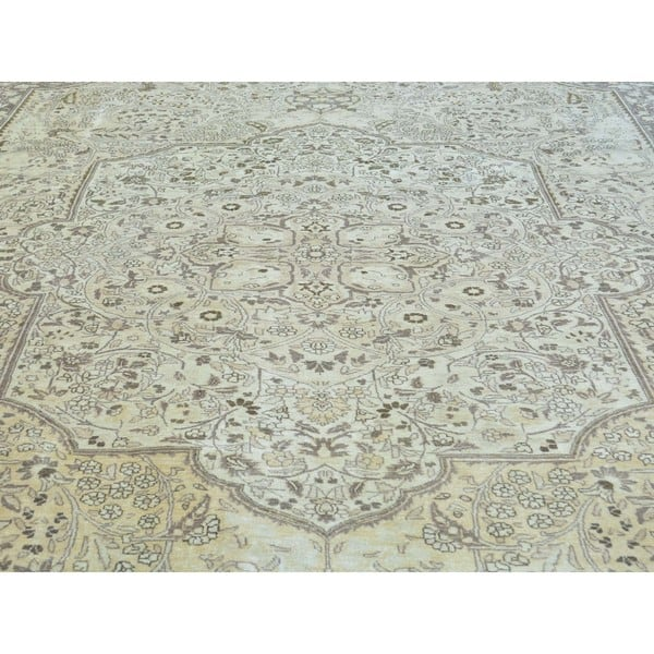Ivory Antique Persian Tabriz