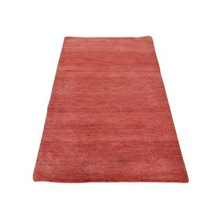 Red Red Gabbeh 100 Percent Wool Hand Knotted Oriental Rug (2'4 x 4'8)