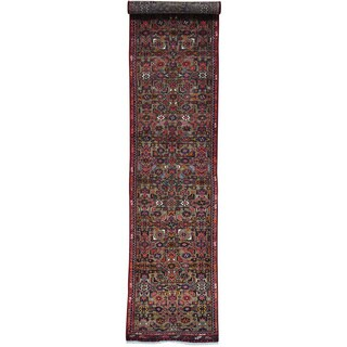 Grey Runner Persian Hussainabad Tribal Hand Knotted Rug (2'10 x 12'10)