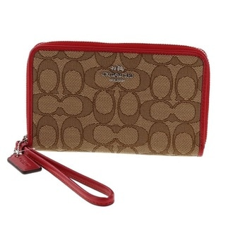 Coach Signature Zip Around Organizer Wallet