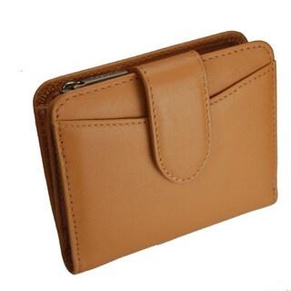 Castello Italian Leather Snap Billfold Wallet