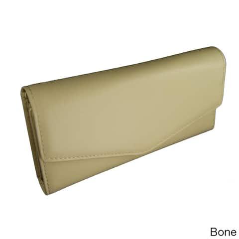 Castello Italian Leather Snap Long Wallet