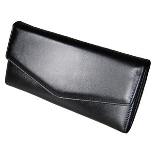 Castello Italian Leather Snap Long Wallet