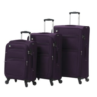 Mia Toro Italy Alagna 3-piece Expandable Spinner Upright Luggage Set