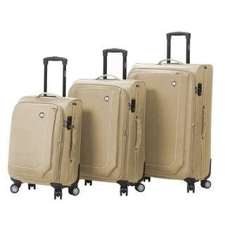 Mia Toro Italy Madesimo 3-piece Expandable Spinner Upright Luggage Set
