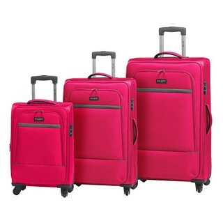 Mia Tory Italy Corvara 3-piece Expandable Spinner Upright Luggage Set