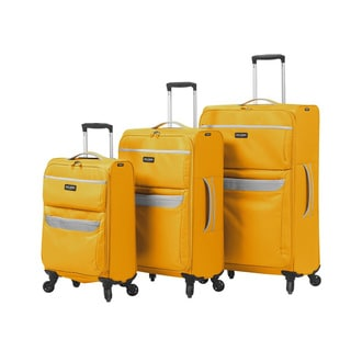 Mia Toro Italy Bernina 3-piece Expandable Spinner Upright Luggage Set