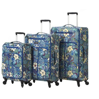 Mia Toro Italy Fiore 3-piece Expandable Fashion Spinner Upright Luggage Set