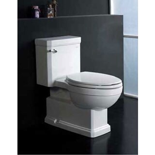 Everett White Ceramic Eco-friendly Toilet