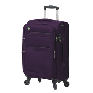 Mia Toro Italy Alagna 20-inch Expandable Carry-on Spinner Upright Suitcase