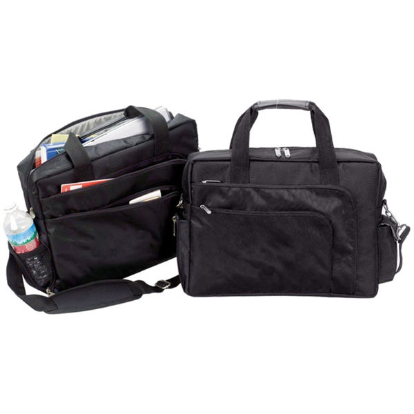Goodhope Black Polyester 15-inch Slim College Laptop Bag. Opens flyout.