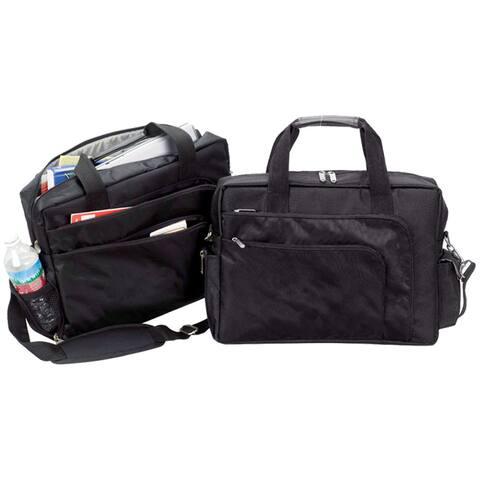 Goodhope Black Polyester 15-inch Slim College Laptop Bag