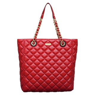 Kate Spade Gold Coast Garnet Quilted Leather Elody Tote Bag