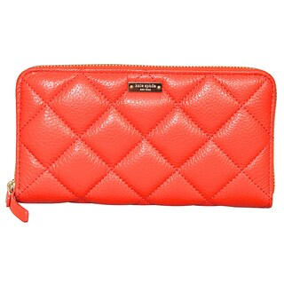 Kate Spade Gold Coast Lacey Maraschino Quilted Leather Wallet