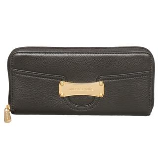 Michael Kors Saratoga Black Zip Around Continental Wallet