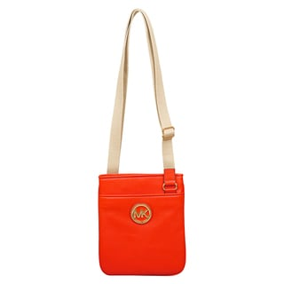 Michael Kors Fulton Mandarin Leather Crossbody Handbag
