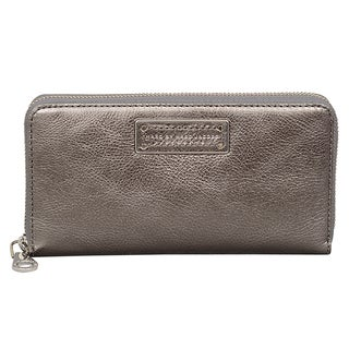 Marc by Marc Jacobs Too Hot to Handle Gunmetal Zip Wallet