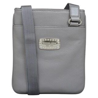Michael Kors Jet Set Jewel Heather Grey Crossbody Handbag