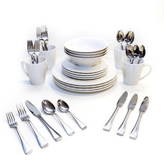 Oneida Ori/Surge Dinnerware and Flatware Bundles (Service for 4 or 8)