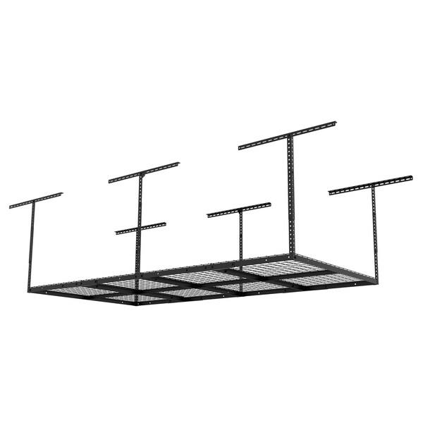 Fleximounts Black Steel Heavy-duty Overhead Storage Rack