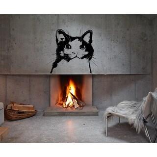 Silhouette of a cat Wall Art Sticker Decal