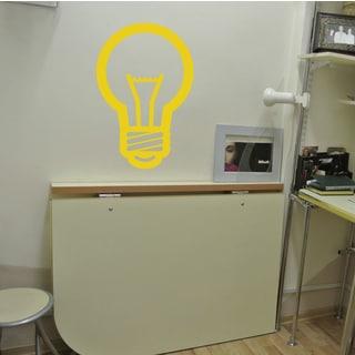 Light bulb Wall Art Sticker Decal Yellow