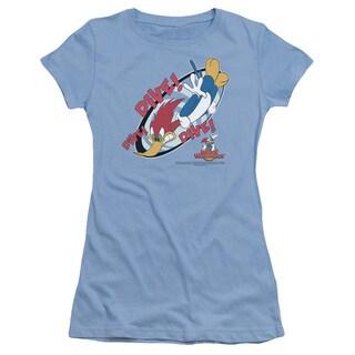 Woody Woodpecker/Dive Junior Sheer in Carolina Blue