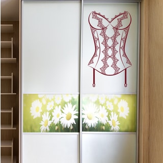 Female corset Wall Art Sticker Decal Red
