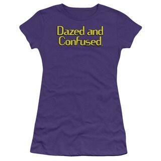 Dazed and Confused/Dazed Logo Junior Sheer in Purple