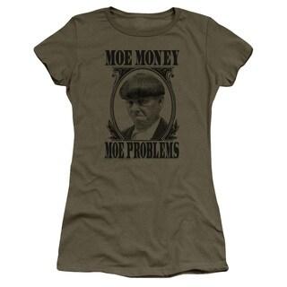 Three Stooges/Moe Money Junior Sheer in Military Green