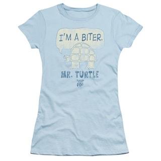 Tootsie Roll/I'M A Biter Junior Sheer in Light Blue