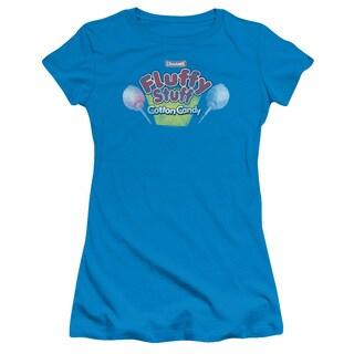 Tootsie Roll/Fluffy Stuff Logo Junior Sheer in Turquoise