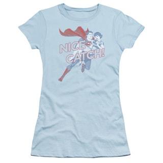Superman/Nice Catch Junior Sheer in Light Blue