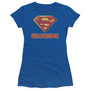 Superman/Super Grandma Junior Sheer in Royal Blue