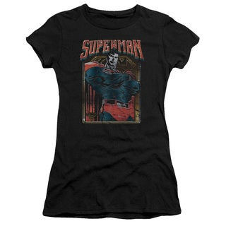 Superman/Head Bang Junior Sheer in Black