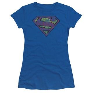 Superman/Tattered Shield Junior Sheer in Royal