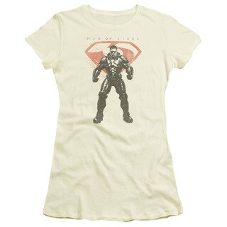 Man Of Steel/Faded Zod Junior Sheer in Cream