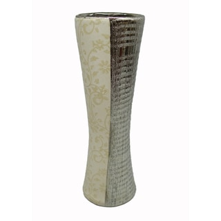 D'Lusso Designs Gabriella Collection Ceramic 13-inch Cylinder Vase