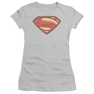 Man Of Steel/New Solid Shield Junior Sheer in Silver