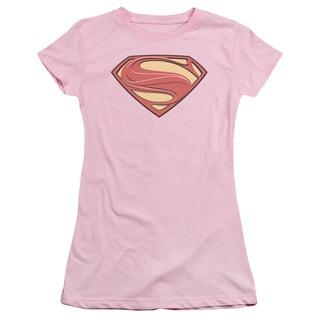 Man Of Steel/New Solid Shield Junior Sheer in Pink