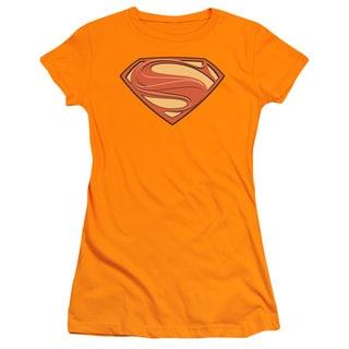 Man Of Steel/New Solid Shield Junior Sheer in Orange