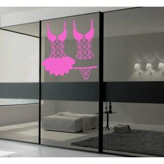 Lace underwear Wall Art Sticker Decal Pink