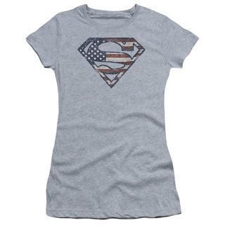 Superman/Wartorn Flag Junior Sheer in Heather