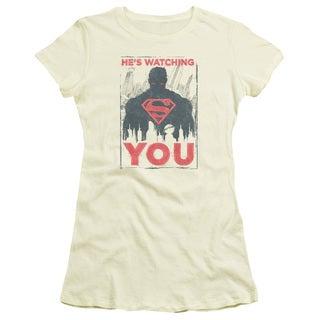 Superman/He's Watching You Junior Sheer in Cream