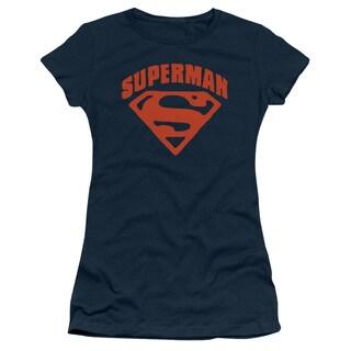 Superman/Super Shield Junior Sheer in Navy