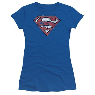 Superman/Ripped and Shredded Junior Sheer in Royal