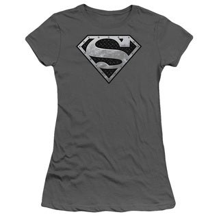 Superman/Super Metallic Shield Junior Sheer in Charcoal